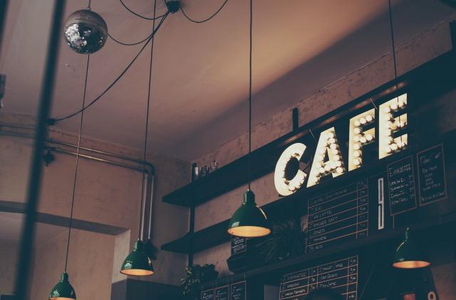 カフェの店内の飾り