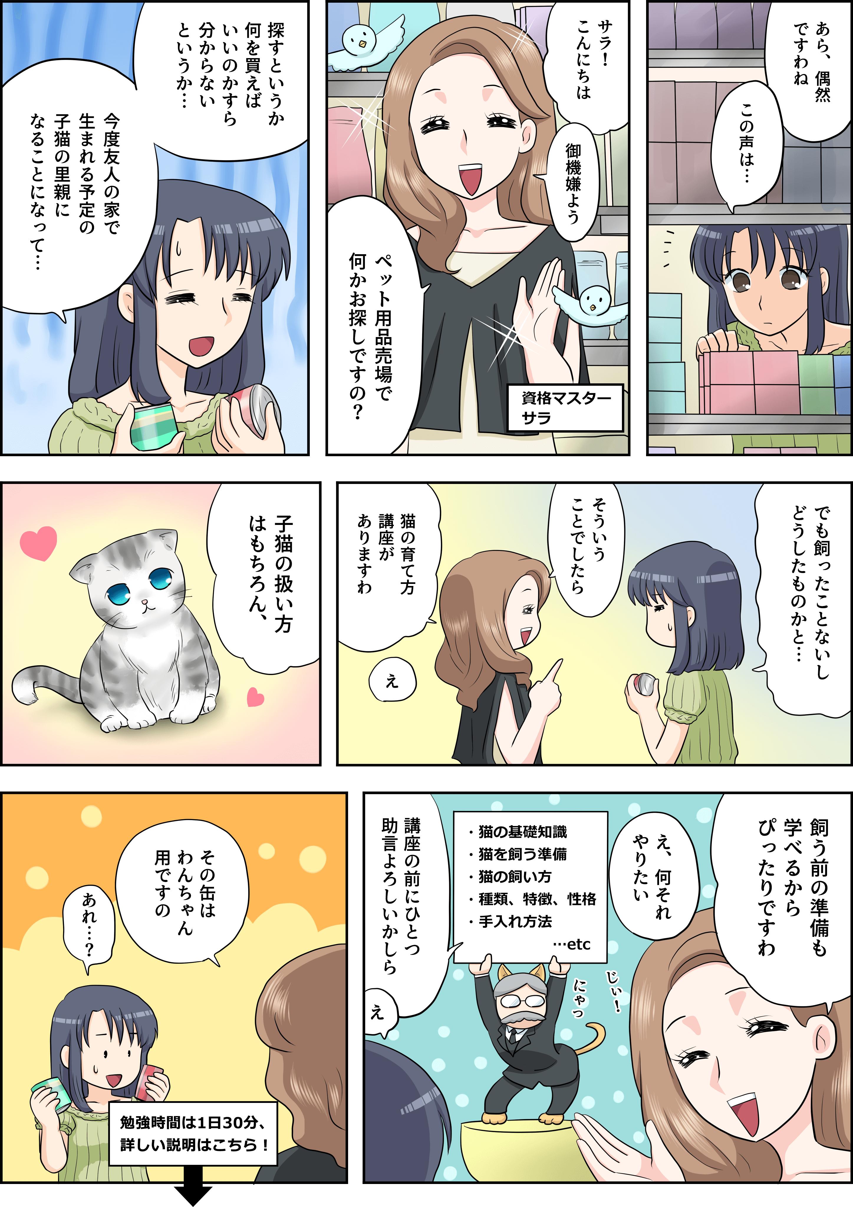 猫の育て方の漫画