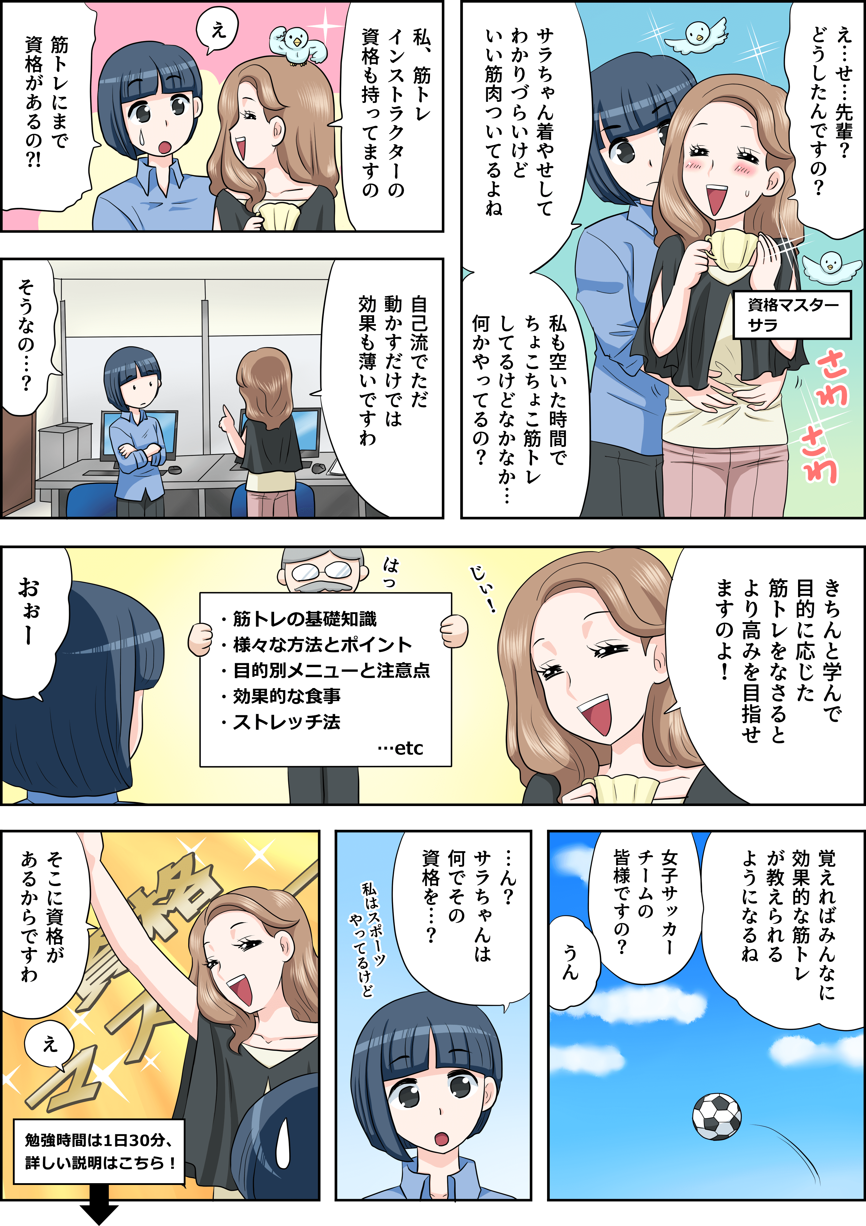 筋トレの漫画