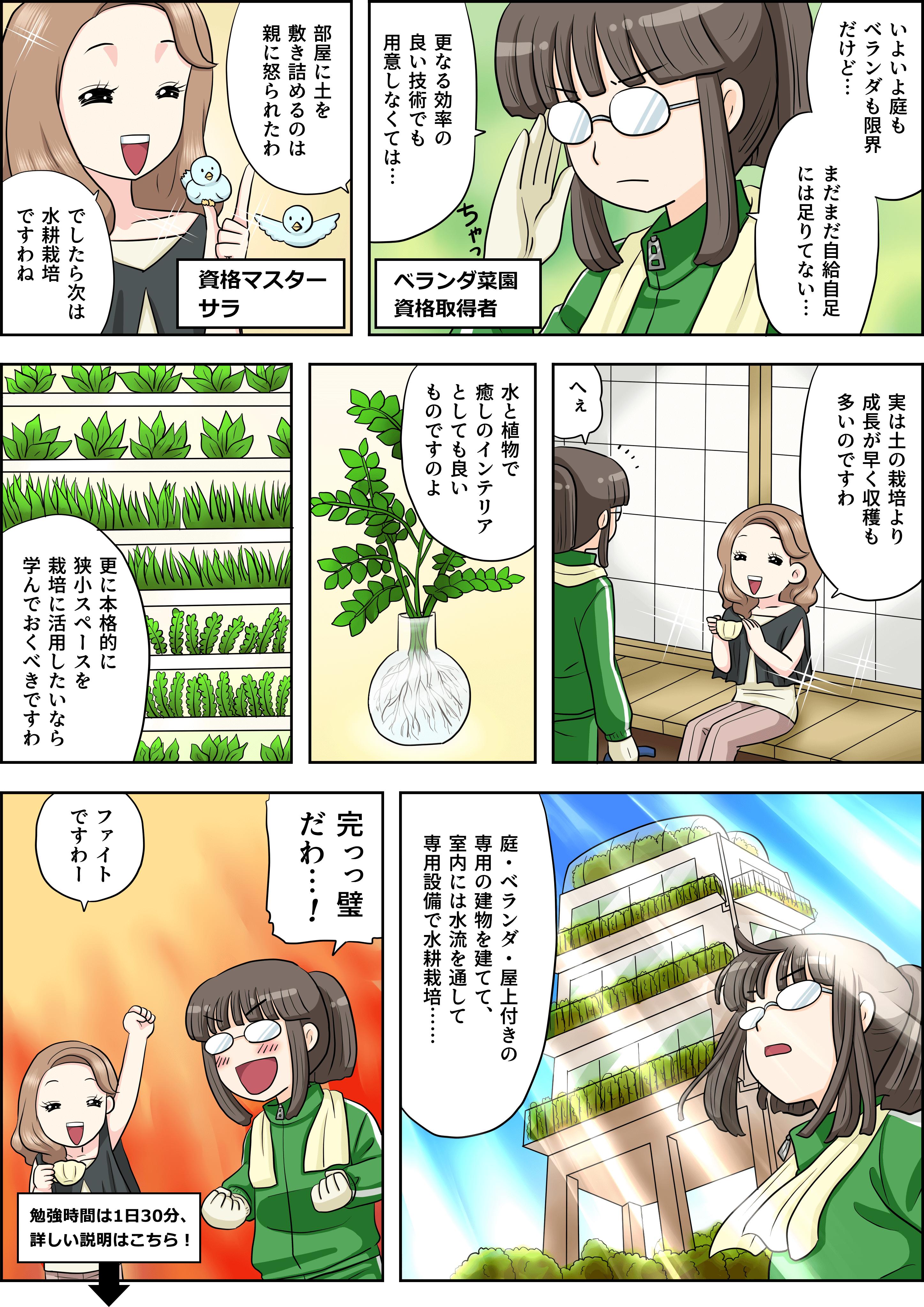 水耕栽培の漫画