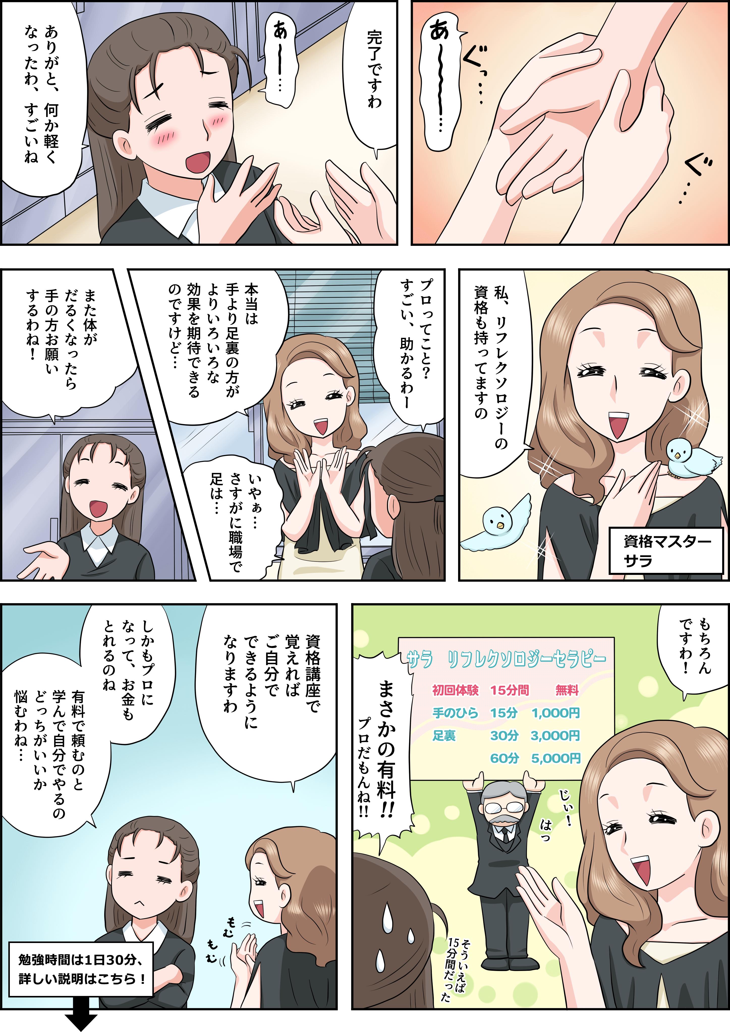 リフレクソロジーの漫画