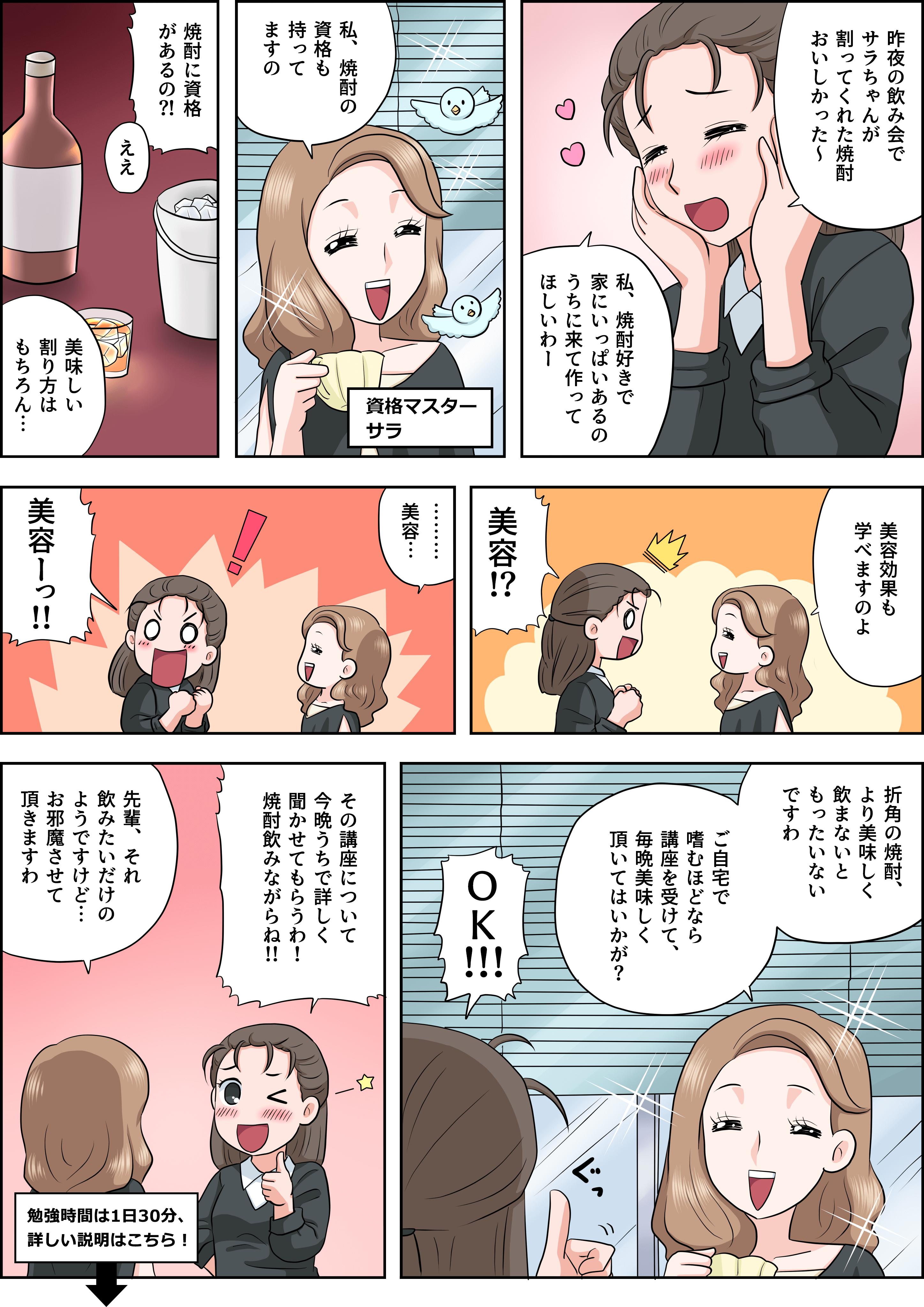 焼酎の漫画