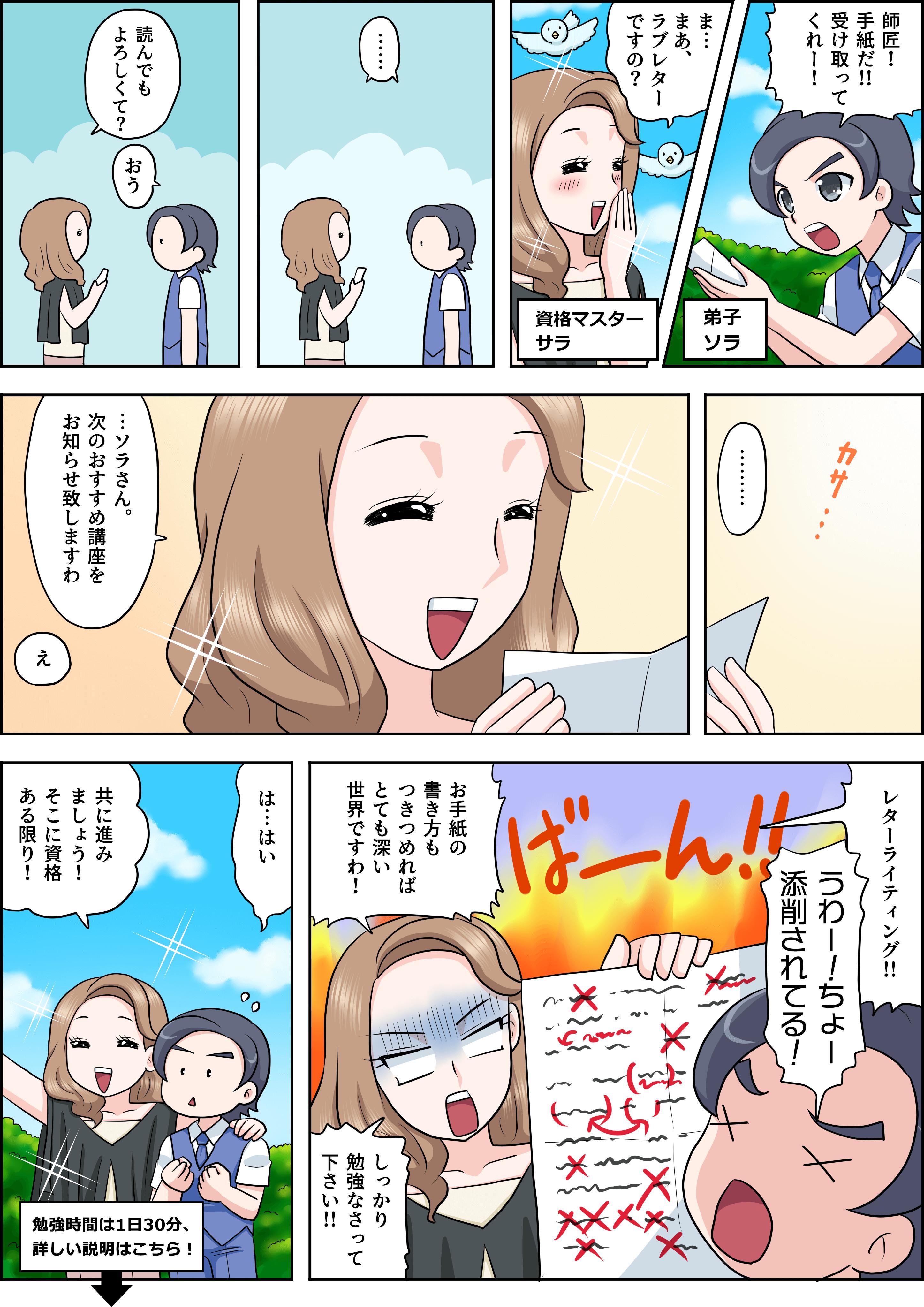 手紙の書き方の漫画