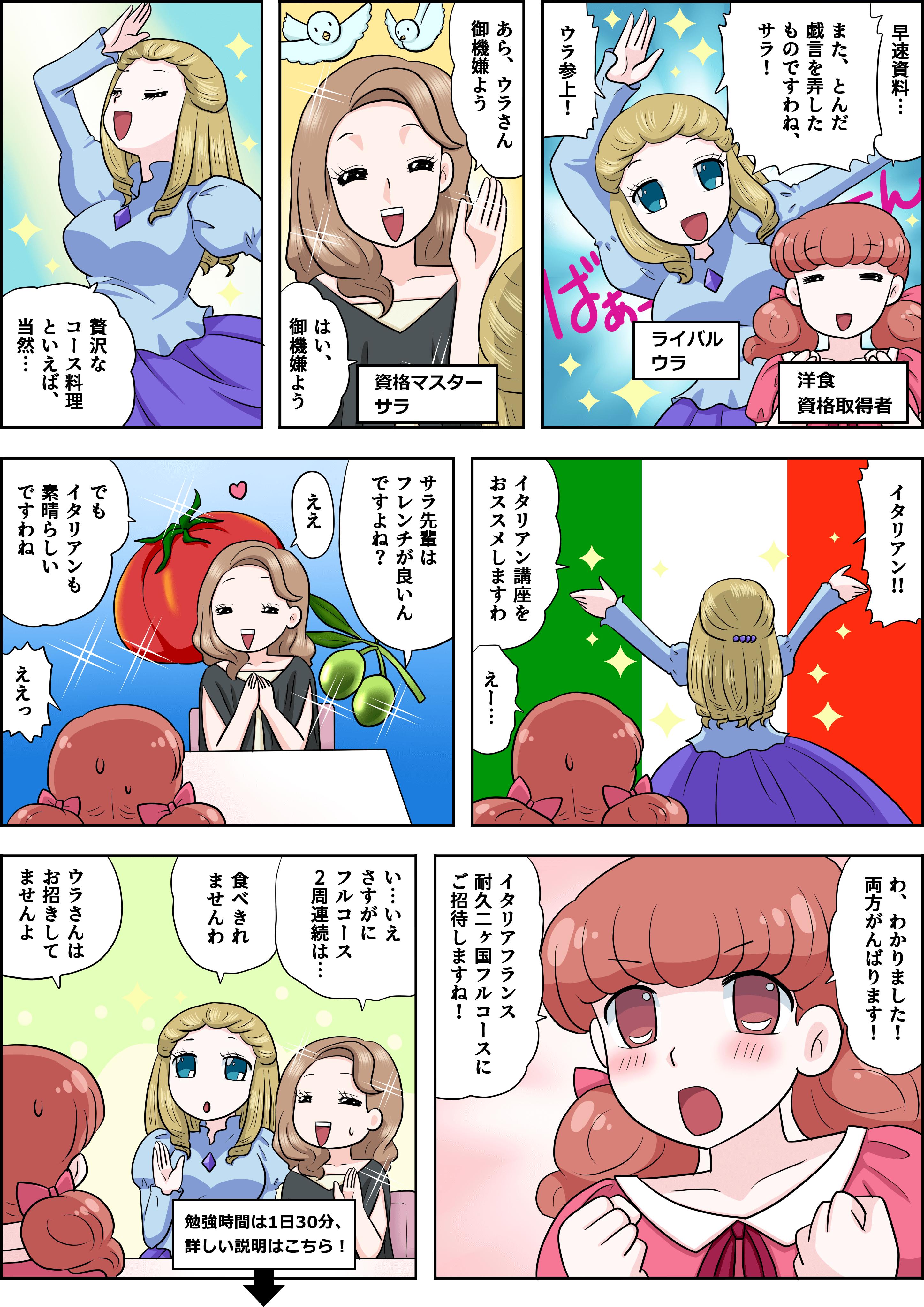 イタリアン資格の漫画