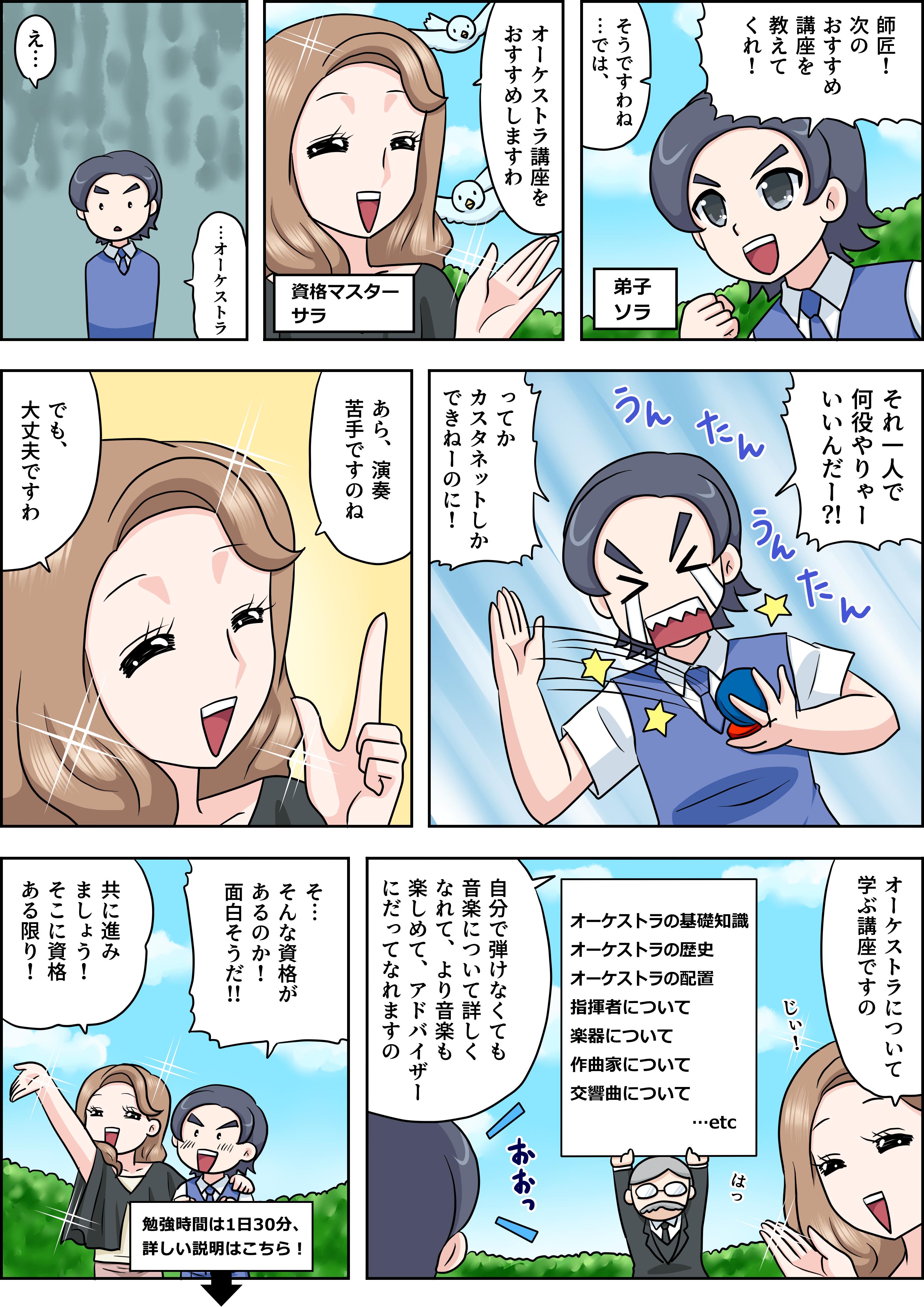 オーケストラの漫画
