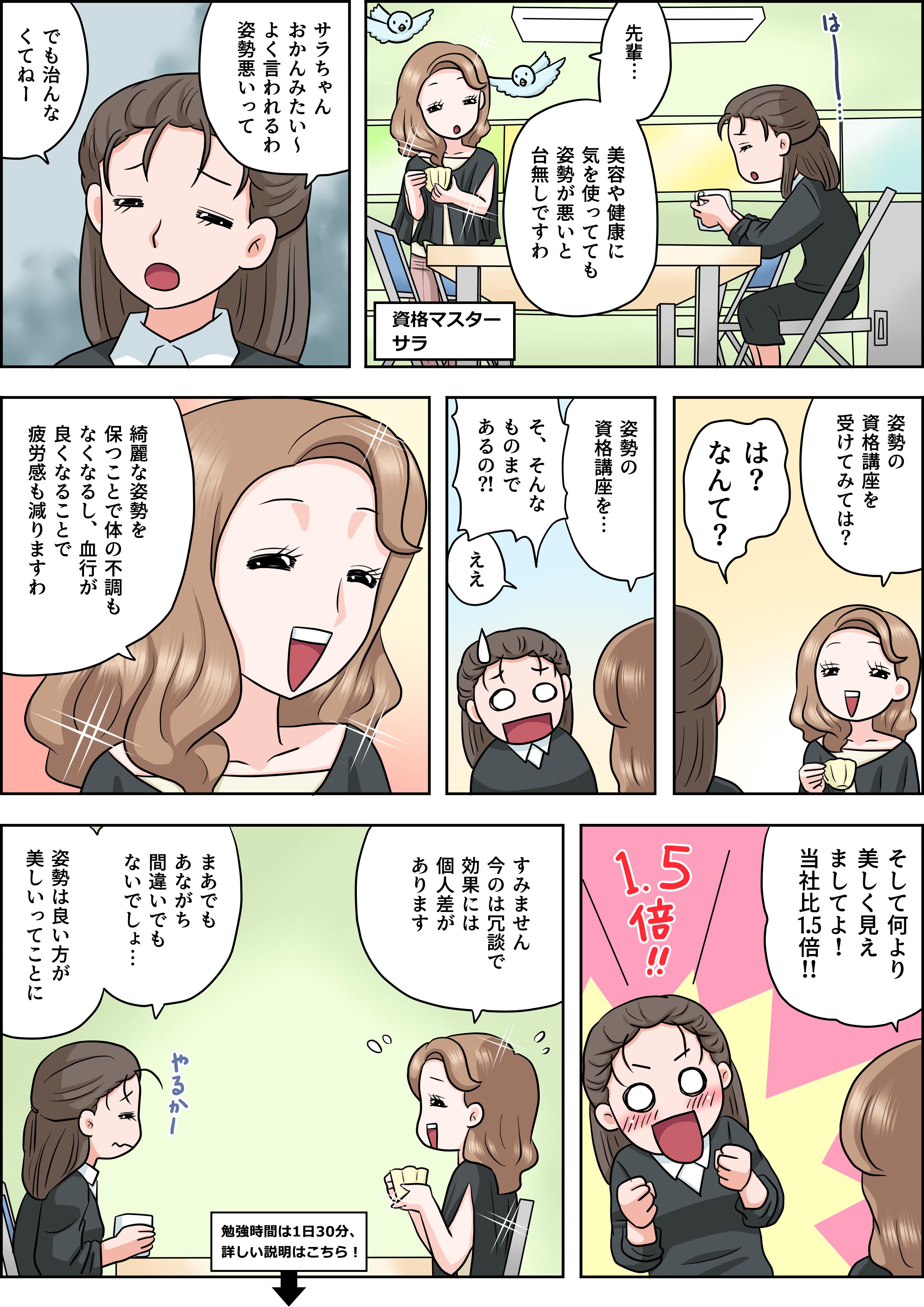 姿勢の漫画