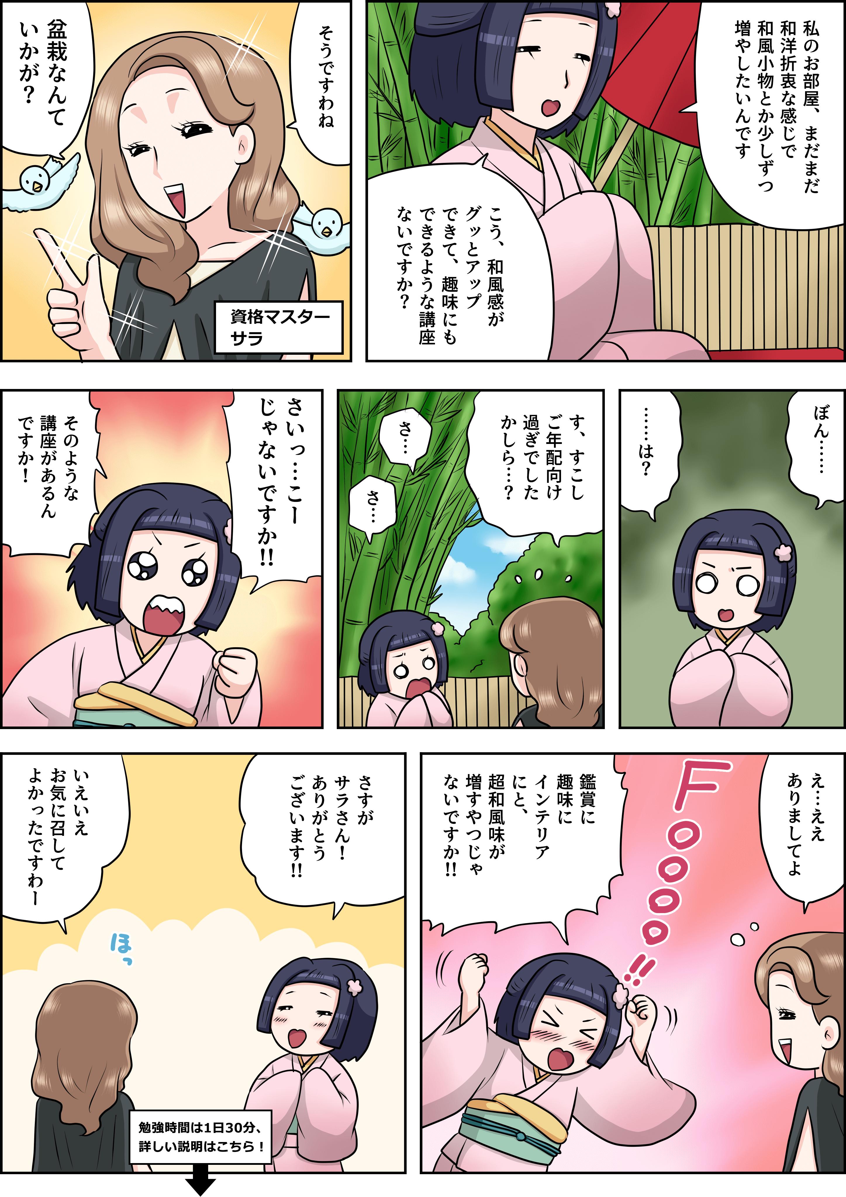 盆栽の漫画
