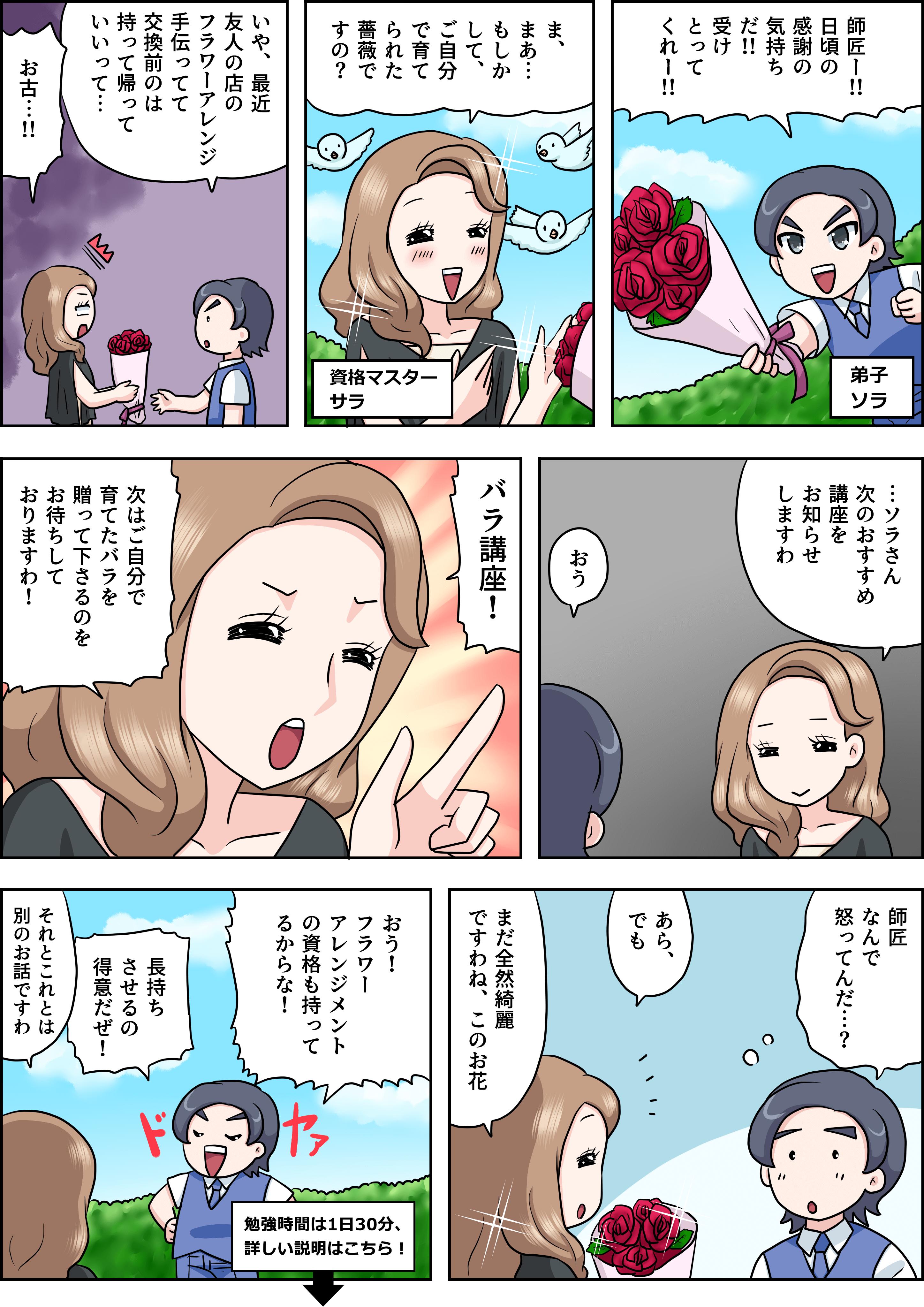 バラの漫画