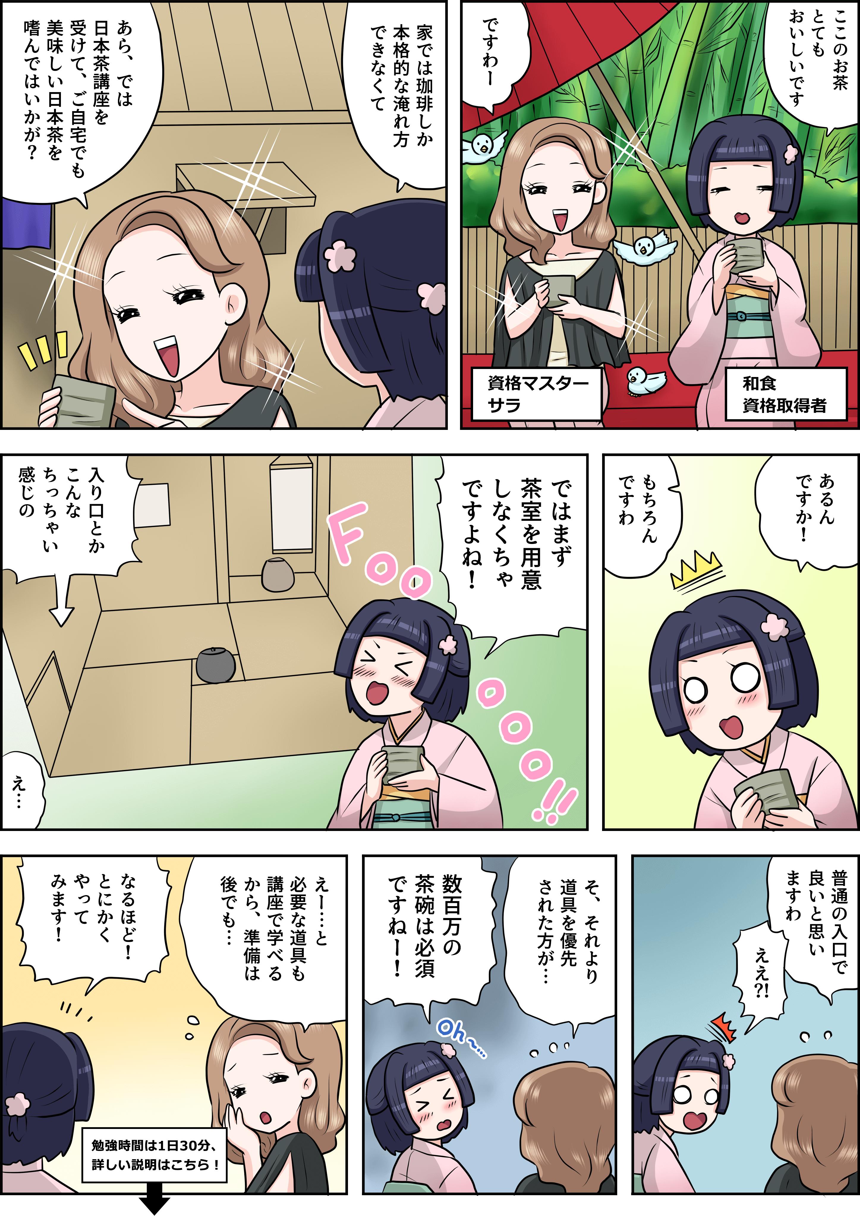 日本茶の漫画