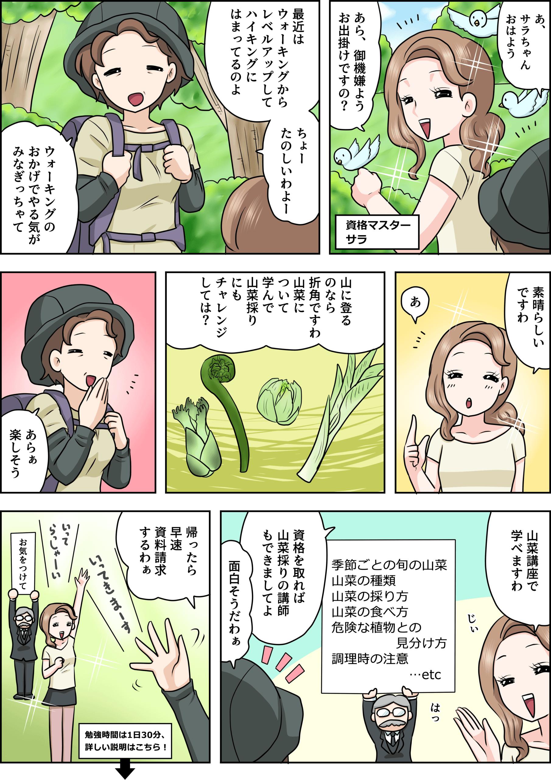 山菜の漫画